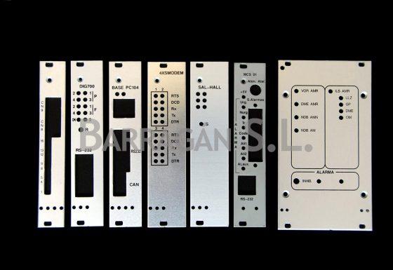 Carátulas de aluminio